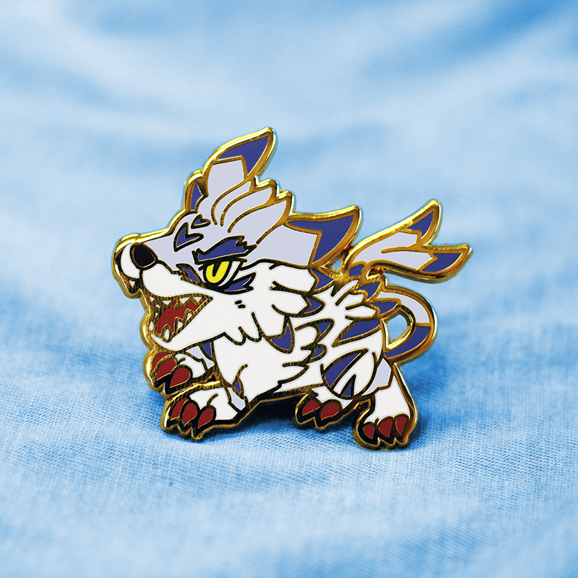 DIGIKING GARURUMON ENAMEL PIN