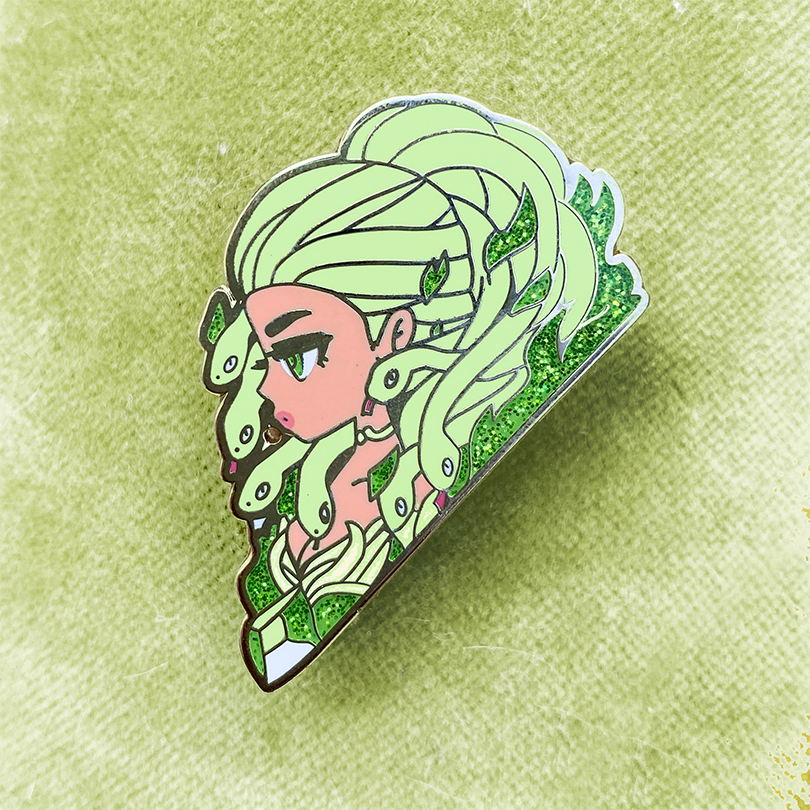 MONSTER GIRL GORGON ENAMEL PIN [KHALIDA]