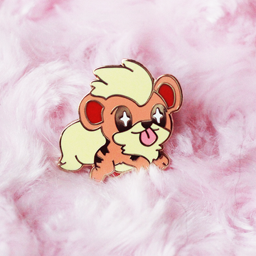 BABY GROWLITHE ENAMEL PIN