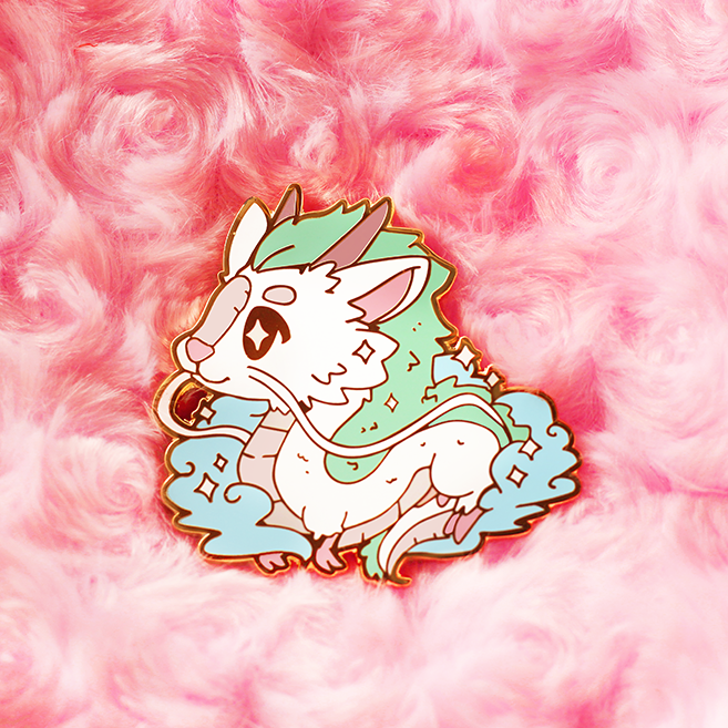 RIVER SPIRIT HAKU ENAMEL PIN