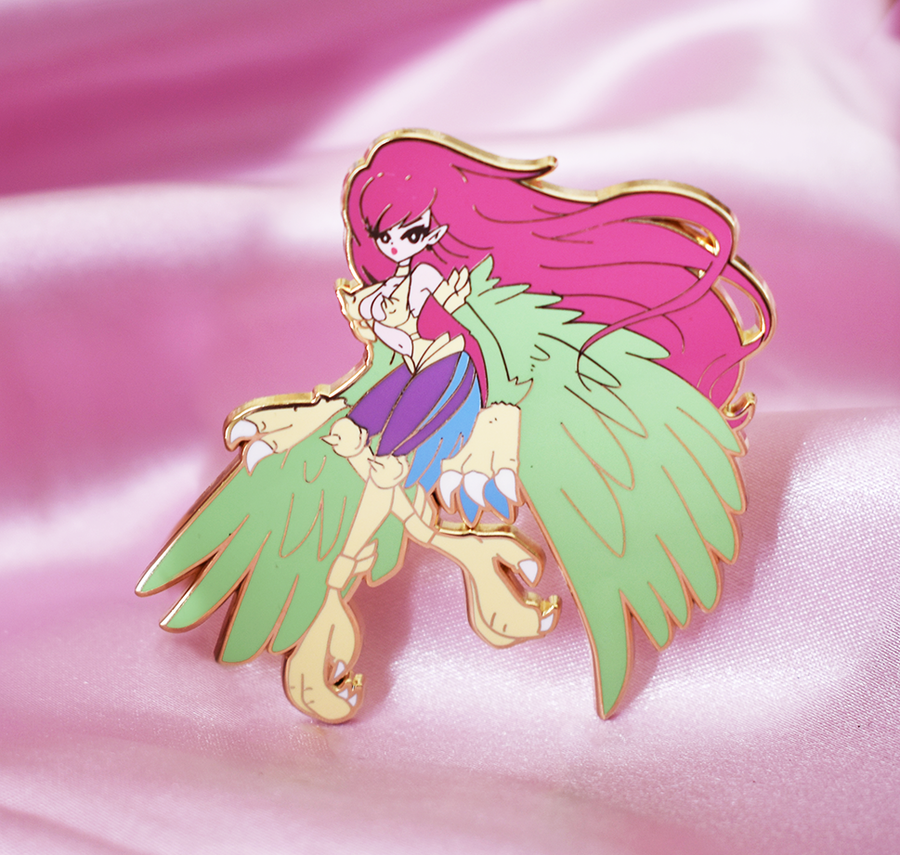 FASHION HARPIE LADY ENAMEL PIN [NONGLITTER]