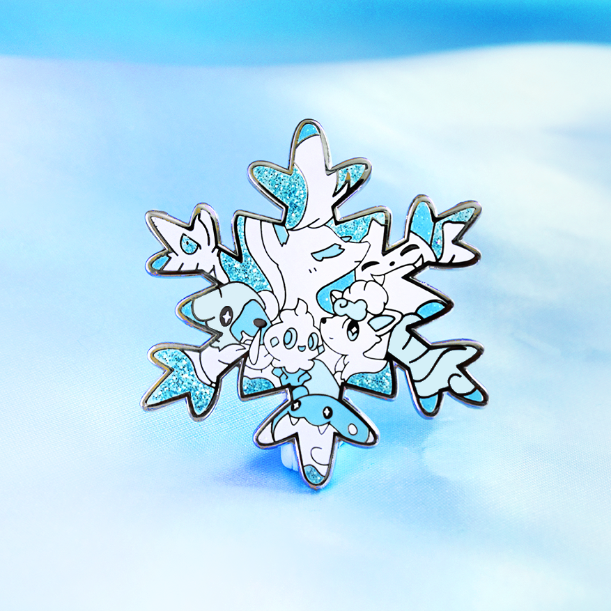 ICE POKETYPE ENAMEL PIN