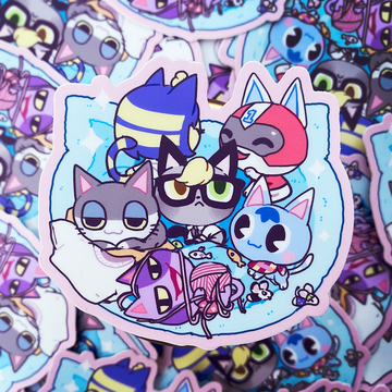 AC BABY KITTIES VINYL STICKER