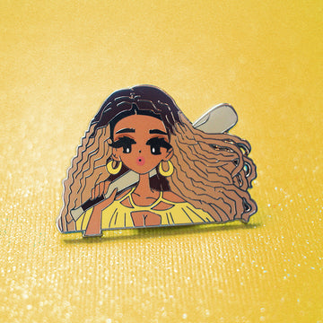 POP GIRL BEY ENAMEL PIN