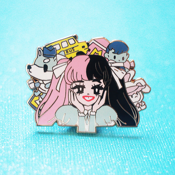 POP GIRL MELANIE ENAMEL PIN