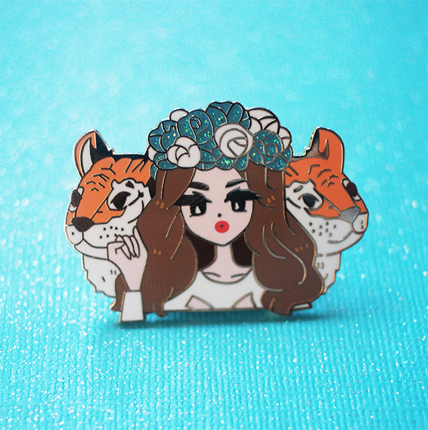 POP GIRL LANA BORN TO DIE ENAMEL PIN