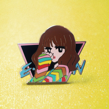 POP GIRL CARLY RAE EMOTION ENAMEL PIN