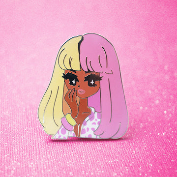 POP GIRL NICKI SUPERBASS ENAMEL PIN
