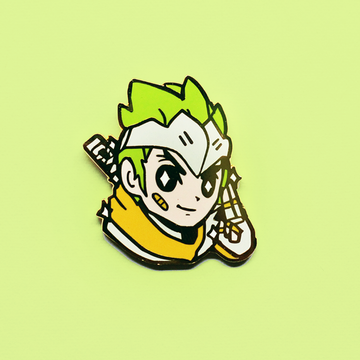 OVERWATCH GREEN SPARROW GENJI ENAMEL PIN