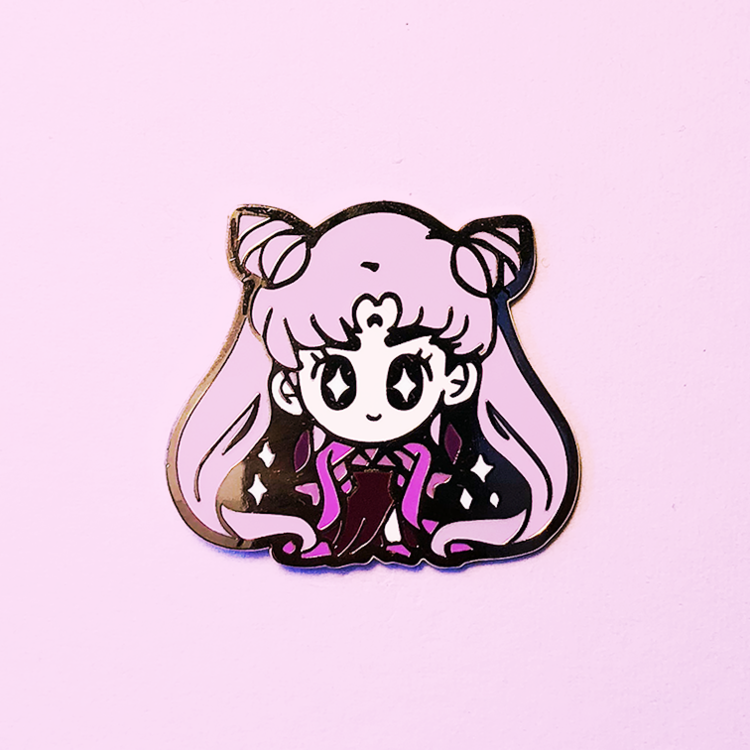 BLACK LADY SENSHI DOLL ENAMEL PIN