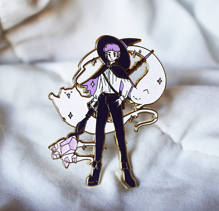 FASHION WITCH BOY ENAMEL PIN