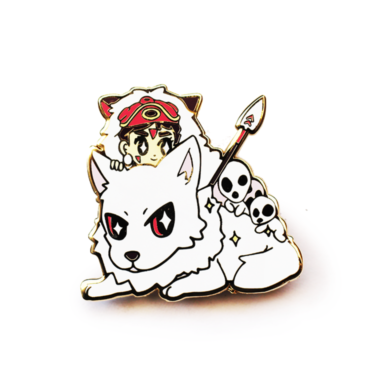 SAN AND MORO ENAMEL PIN