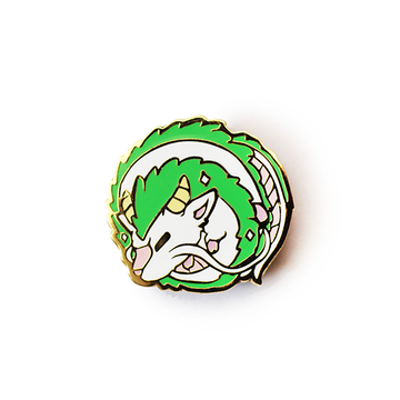 BABY HAKU DRAGON ENAMEL PIN
