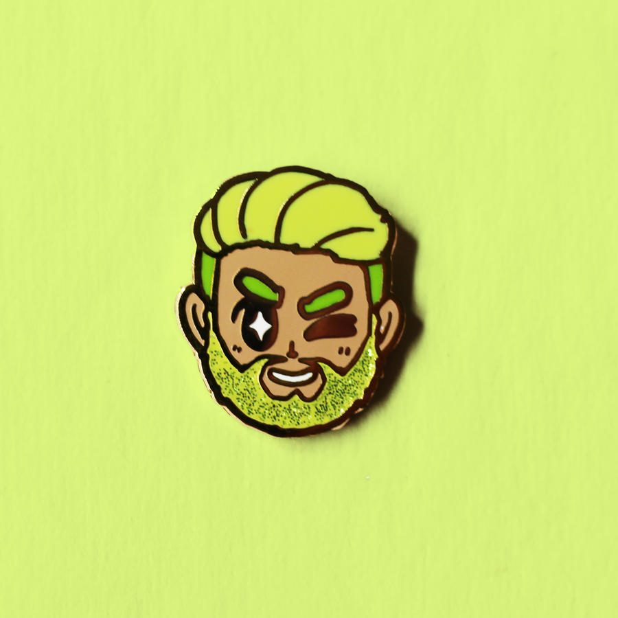 GLITTER BEARD CHARITY ENAMEL PIN
