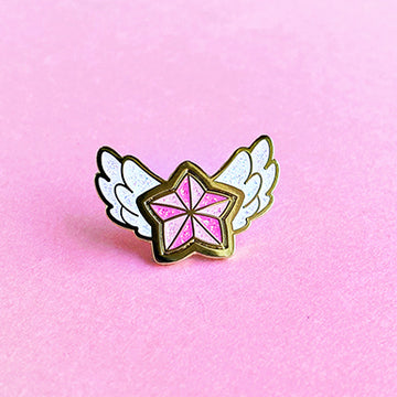 STAR GUARDIAN CHARM ENAMEL PIN - LUX PINK STAR
