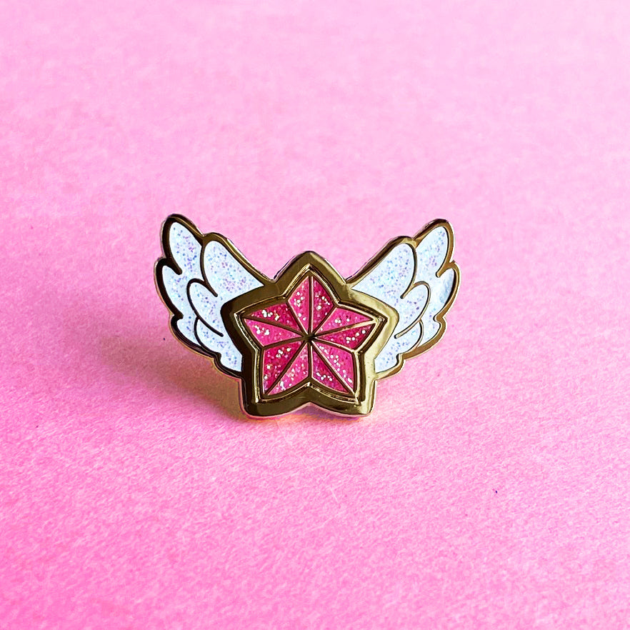 STAR GUARDIAN CHARM ENAMEL PIN - JINX RED STAR