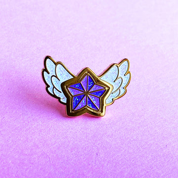 STAR GUARDIAN CHARM ENAMEL PIN - JANNA PURPLE STAR