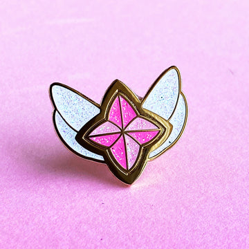 STAR GUARDIAN CHARM ENAMEL PIN - AHRI PINK SPARKLE