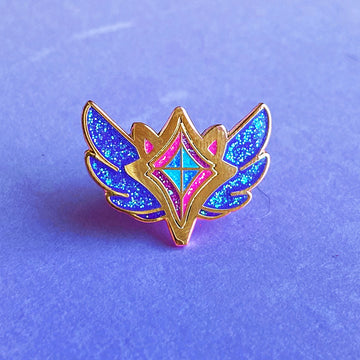 CORRUPTED STAR GUARDIAN CHARM ENAMEL PIN - ZOE GARNET