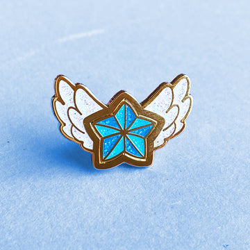 STAR GUARDIAN CHARM ENAMEL PIN - POPPY BLUE STAR