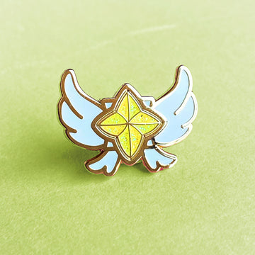 STAR GUARDIAN CHARM ENAMEL PIN - NEEKO YELLOW GREEN SPARKLE