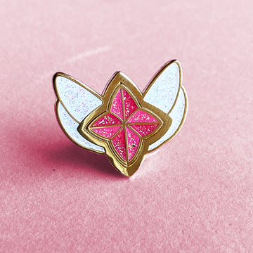 STAR GUARDIAN CHARM ENAMEL PIN - MISS FORTUNE RED