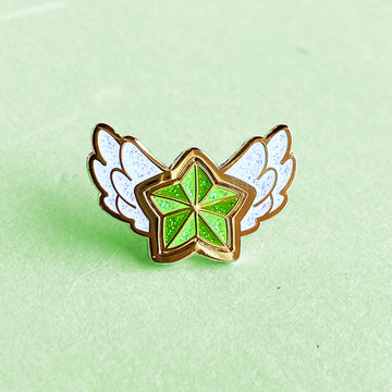 STAR GUARDIAN CHARM ENAMEL PIN - LULU GREEN STAR