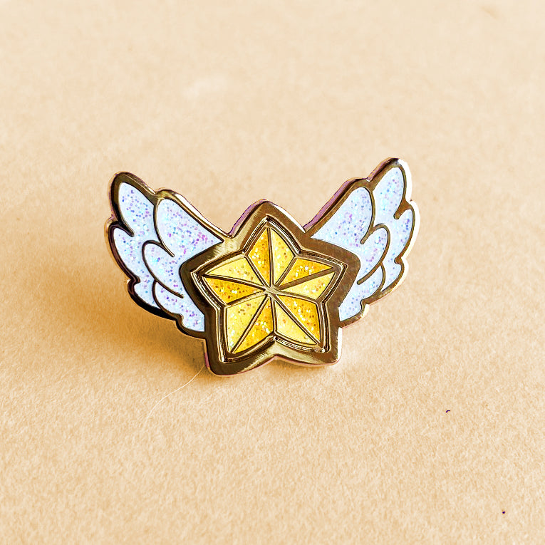 STAR GUARDIAN CHARM ENAMEL PIN - STANDARD YELLOW STAR