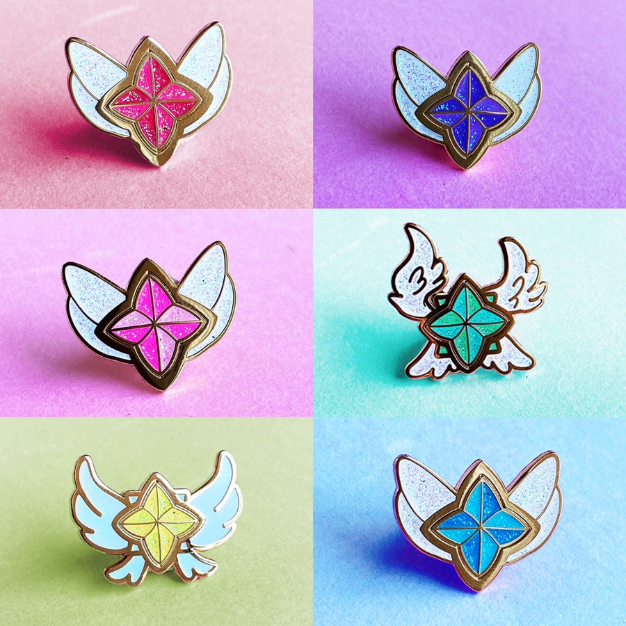 STAR GUARDIAN CHARM ENAMEL PIN - FULL SET TEAM AHRI