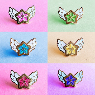 STAR GUARDIAN CHARM ENAMEL PIN - FULL SET TEAM LUX