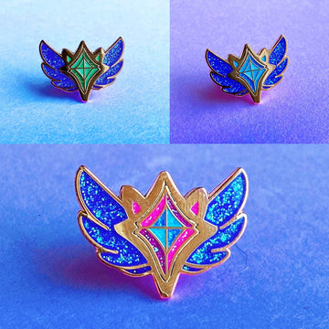 FULL SET CORRUPTED STAR GUARDIAN CHARM ENAMEL PINS