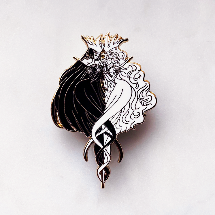 FASHION CLOW CARD LIGHT AND DARK ENAMEL PIN  [CCS]  [LIMITED EDITION]