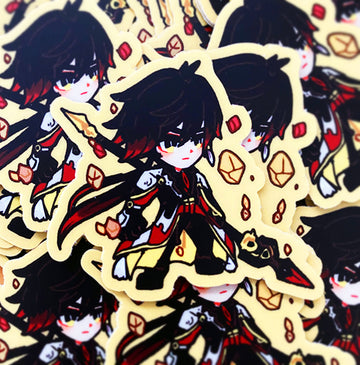 GENSHIN GUARDIANS - ZHONGLI VINYL STICKER