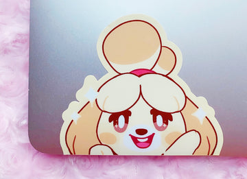 ISABELLE PEEKING VINYL STICKER