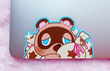 TOM NOOK PEEKING VINYL STICKER [LARGE]