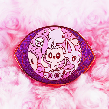 PSYCHIC POKETYPE BADGE ENAMEL PIN