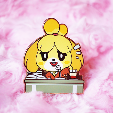 Isabelle Announcement Enamel Pin [Villager]