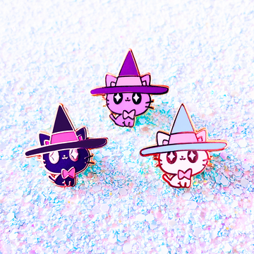 Witch Kitties Enamel Pin