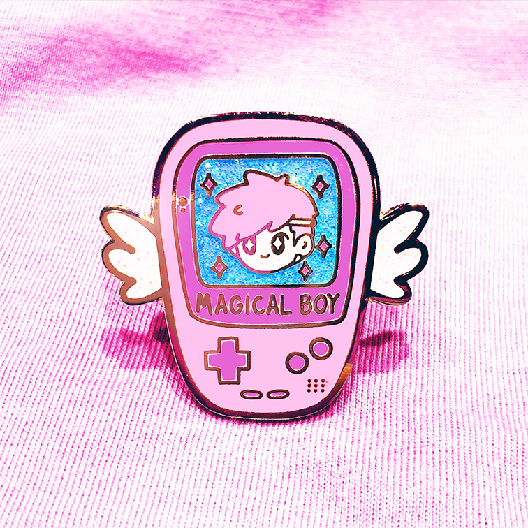 MAGICAL BOY GAME BOY ENAMEL PIN