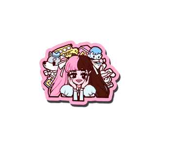 VINYL STICKER POP GIRL MELANIE