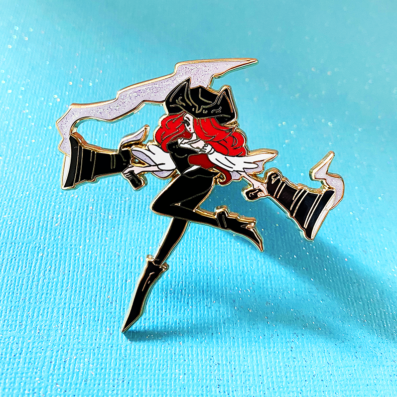 MISS FORTUNE ENAMEL PIN [FASHION CHAMPION] [LIMITED EDITION]
