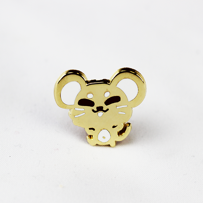 ZODIAC MOUSE GOLD ENAMEL PIN [LIMITED EDITION]