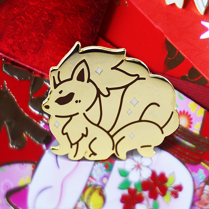 BABY GOLD NINETALES ENAMEL PIN [LIMITED EDITION]