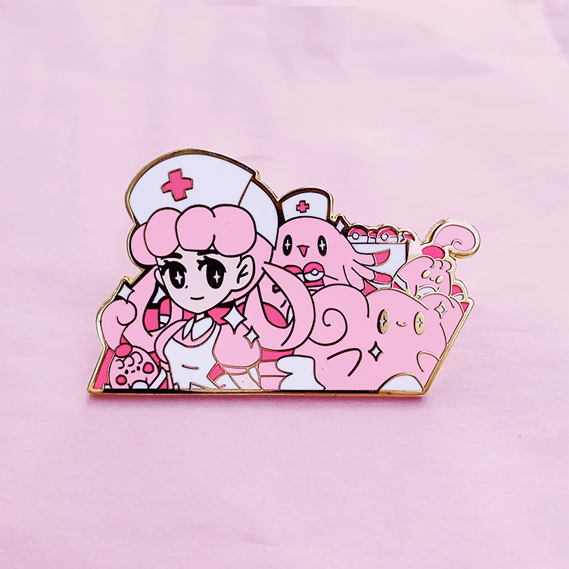 NURSE JOY ENAMEL PIN