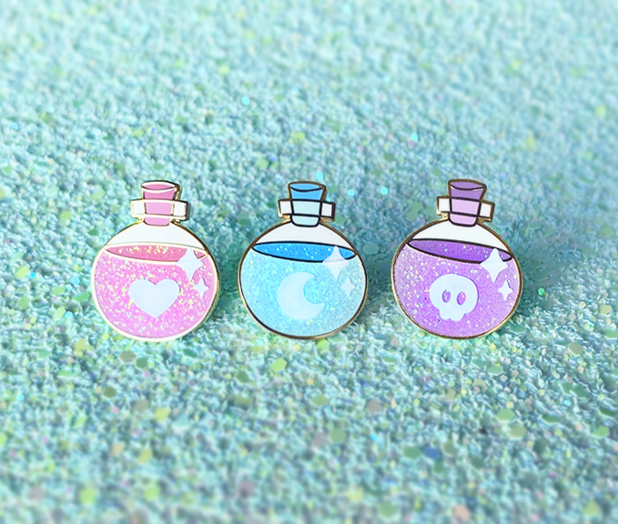 Magical Potions Enamel Pins