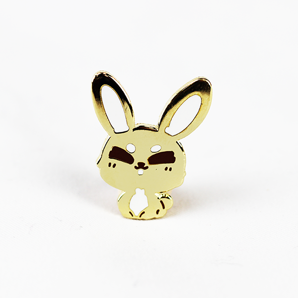 ZODIAC RABBIT GOLD ENAMEL PIN [LIMITED EDITION]