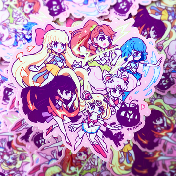 SAILOR SENSHI JUMBO XL VINYL STICKER