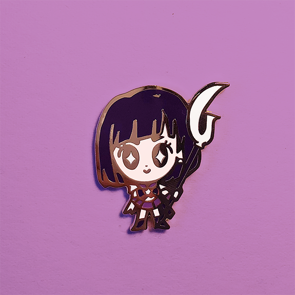 SATURN SENSHI DOLL ENAMEL PIN