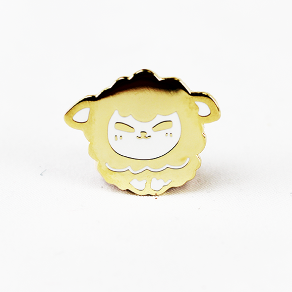 ZODIAC SHEEP GOLD ENAMEL PIN [LIMITED EDITION]