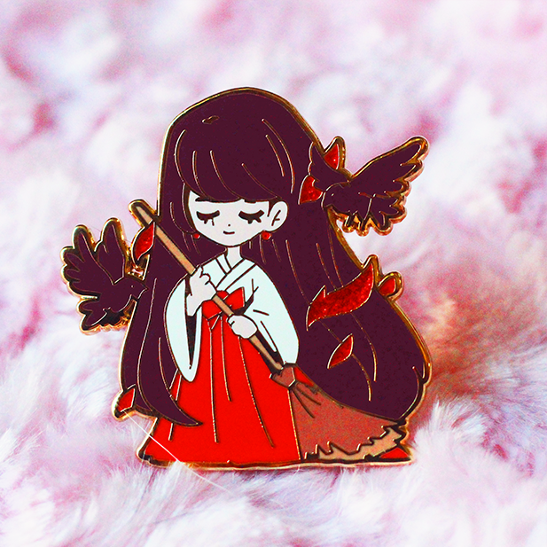 CHIBI SHRINE MAIDEN REI ENAMEL PIN